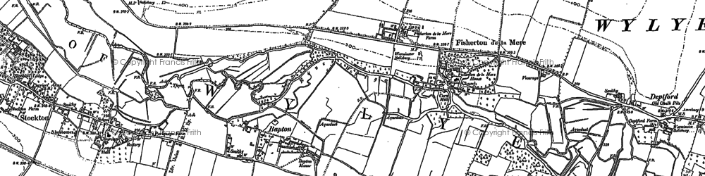 Old map of Bapton in 1899