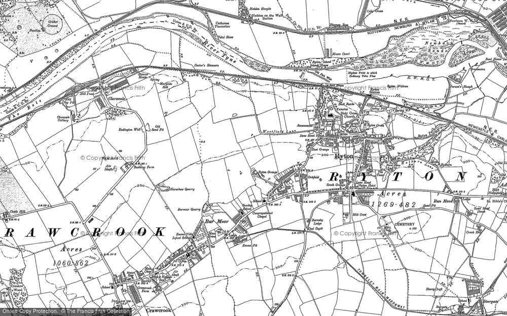 Old Map of Bar Moor, 1914 in 1914