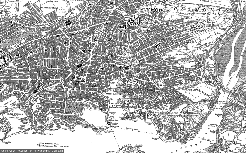 Old Map of Barbican, 1905 - 1912 in 1905