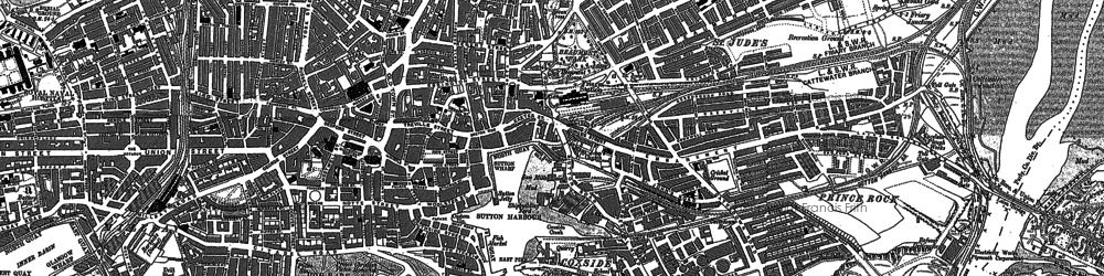 Old map of Barbican in 1905