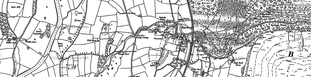 Old map of Barbon Beck in 1896