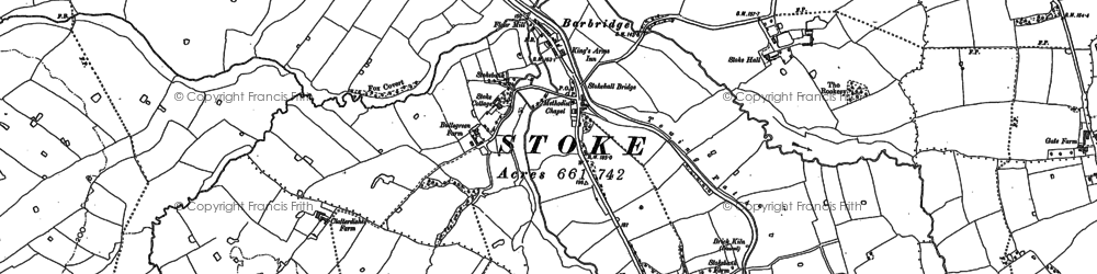 Old map of Bache Ho in 1897