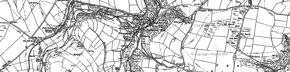 Old map of Barbrook in 1887