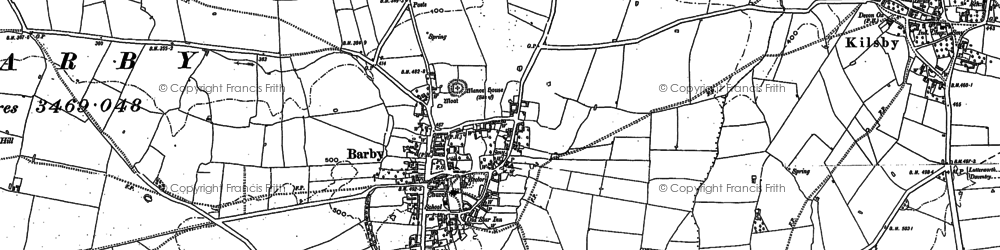 Old map of Barby Hill in 1884