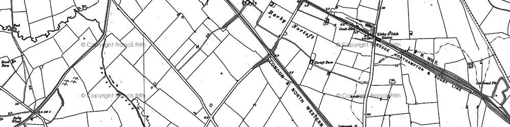 Old map of Barby Nortoft in 1884