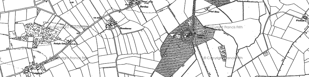 Old map of Barclose in 1899