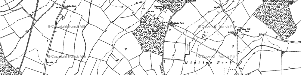 Old map of Austacre Wood in 1886