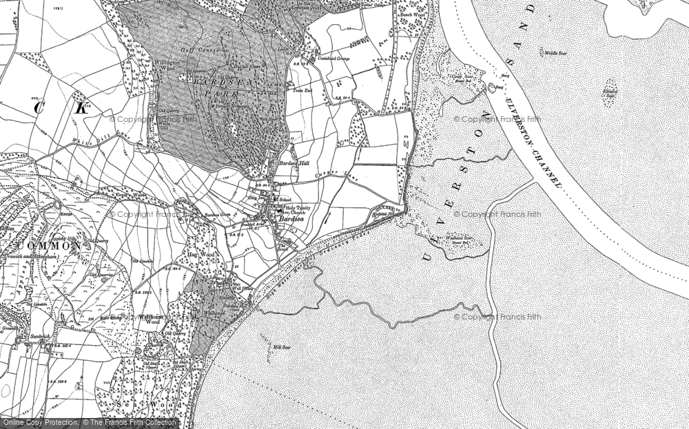 Old Map of Bardsea, 1847 in 1847