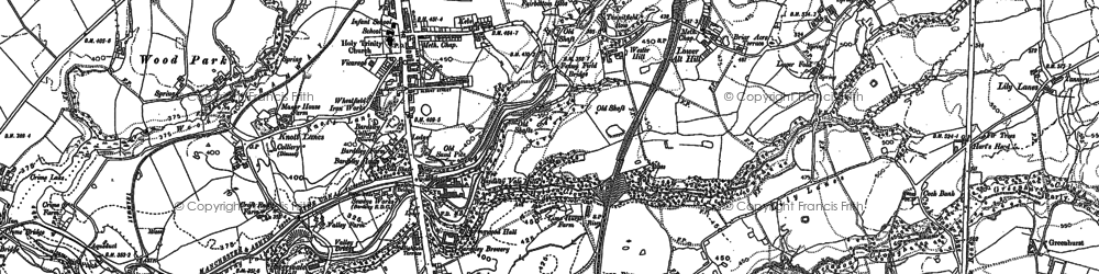 Old map of Bardsley in 1891