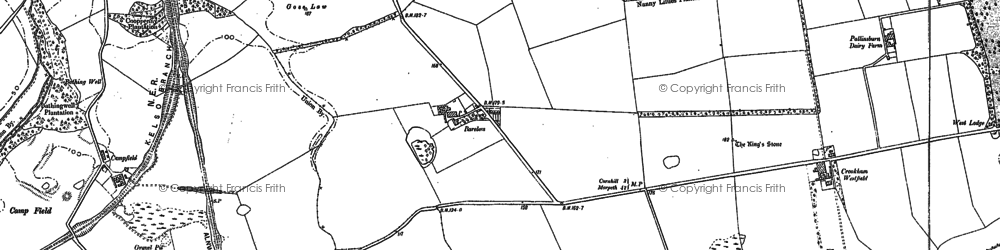 Old map of Bareless in 1896