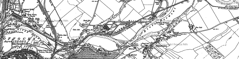Old map of Barepot in 1923