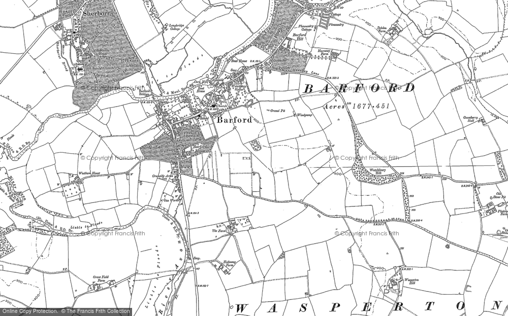 Old Map of Barford, 1885 in 1885