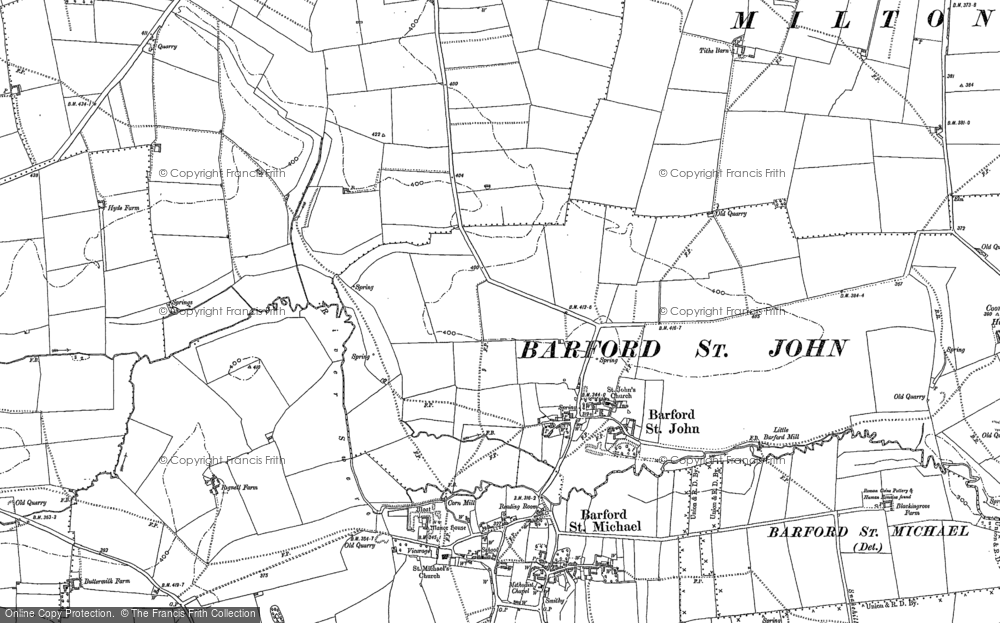 Old Map of Barford St John, 1898 in 1898