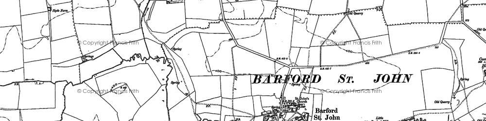 Old map of Barford St John in 1898