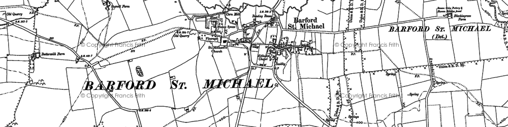 Old map of Barford St Michael in 1898