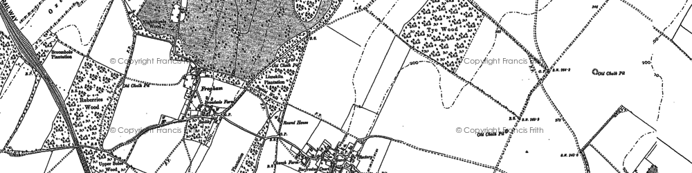 Old map of Barfrestone in 1896