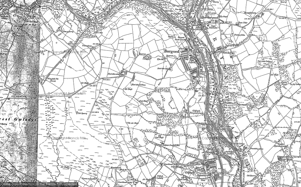 Map of Bargoed, 1898 - 1916