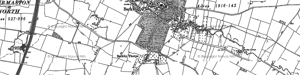Old map of Barkby in 1883
