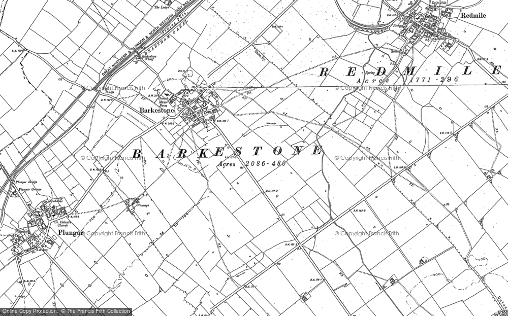 Old Map of Barkestone-le-Vale, 1886 - 1902 in 1886