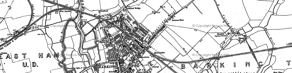Old map of Barking Creek in 1884