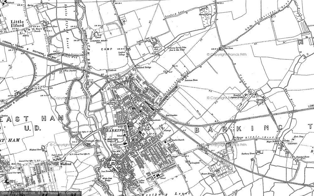 Old Map of Barking, 1894 - 1895 in 1894