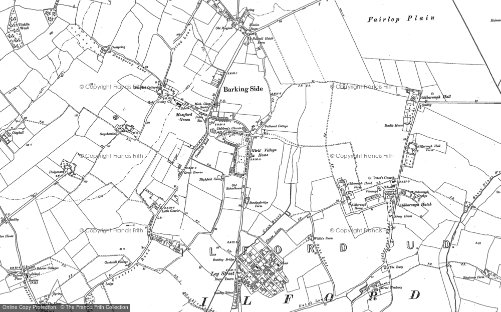 Old Map of Historic Map covering Aldborough Hatch in 1895