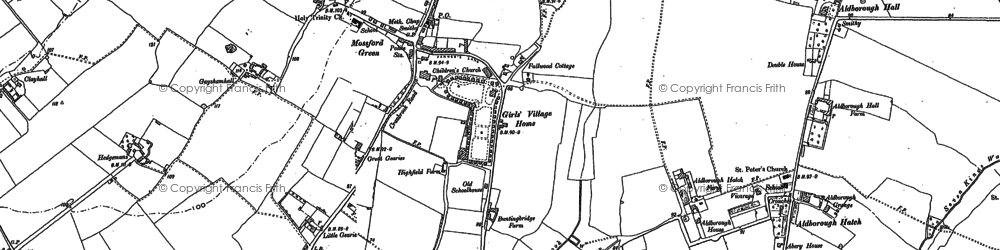 Old map of Aldborough Hatch in 1895