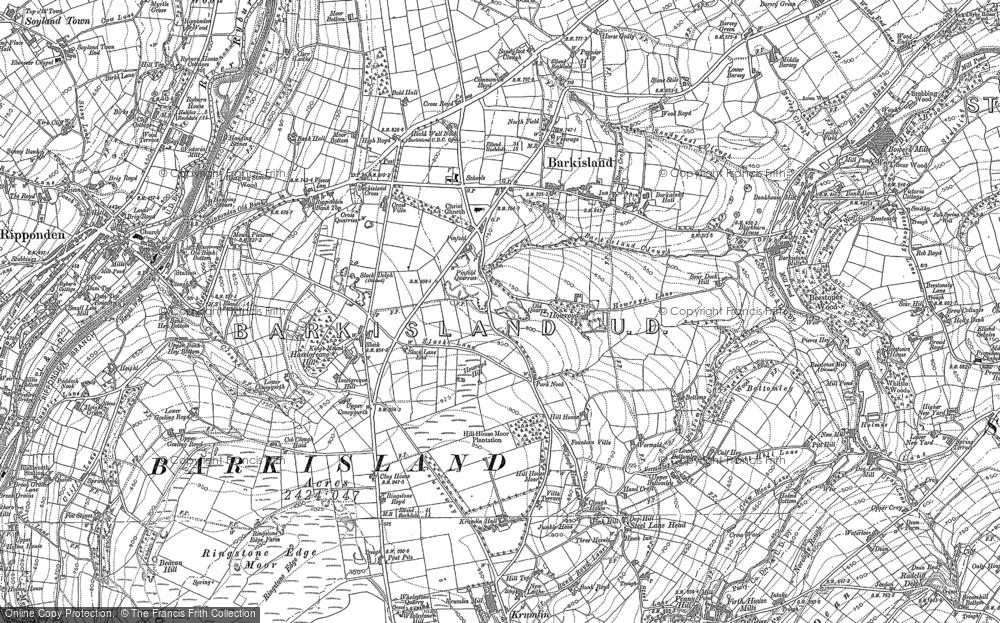 Map of Barkisland, 1892