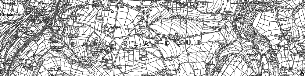 Old map of Barkisland in 1892