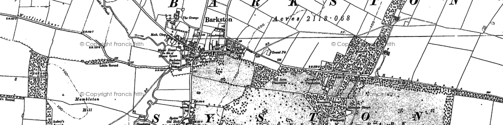 Old map of Barkston Granges in 1887