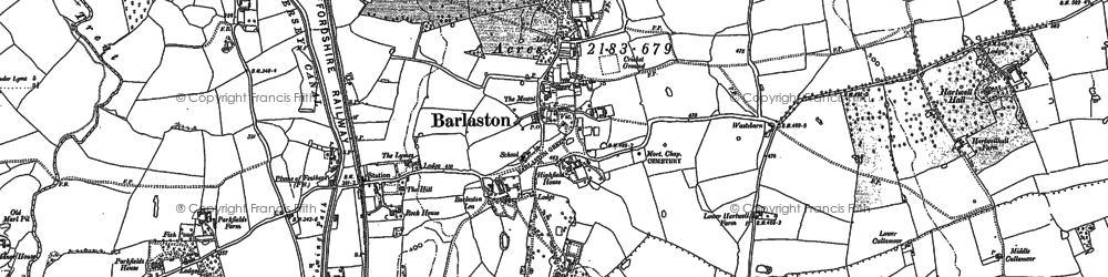 Old map of Woodeaves in 1879