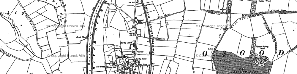 Old map of Barlby in 1890