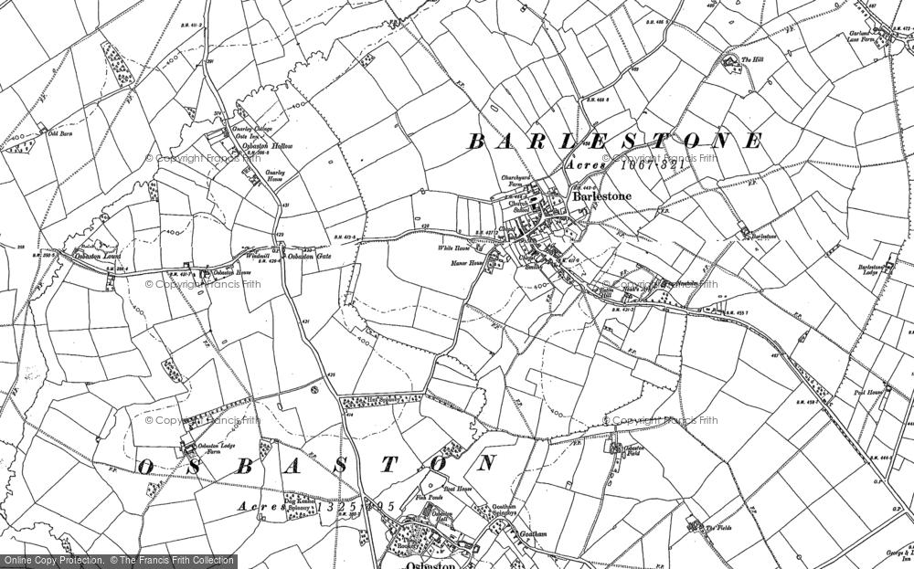 Old Map of Barlestone, 1885 in 1885
