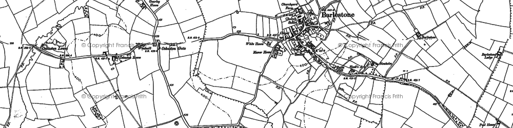 Old map of Barlestone in 1885