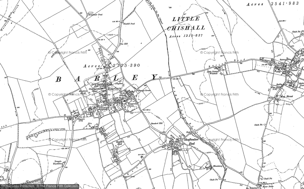 Old Map of Barley, 1896 in 1896