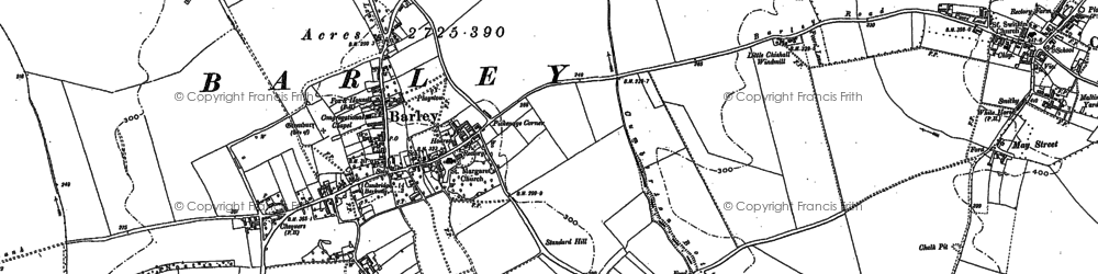 Old map of Barley in 1896