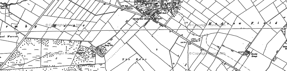 Old map of Yapham Common in 1890