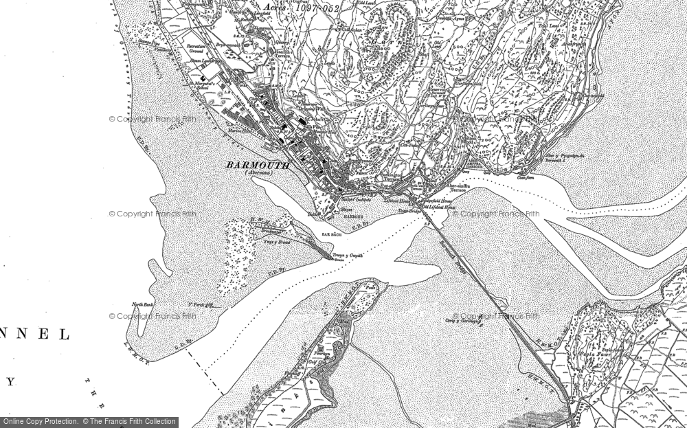 Old Map of Historic Map covering Y Perch in 1900