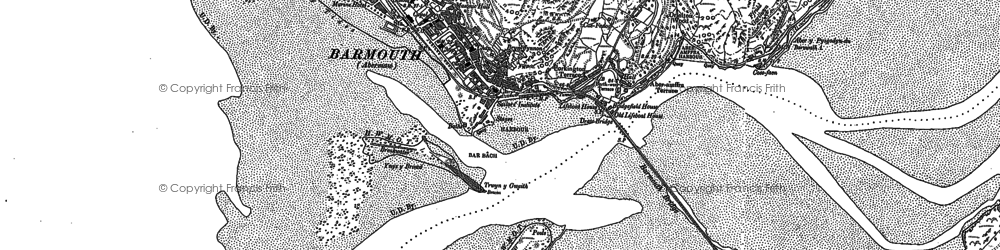 Old map of Barmouth in 1900