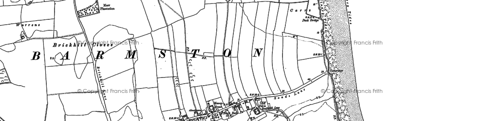 Old map of Barmston in 1909