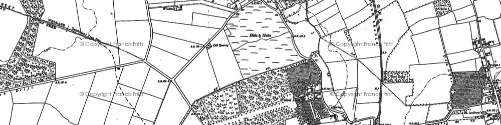 Old map of Barnack in 1899