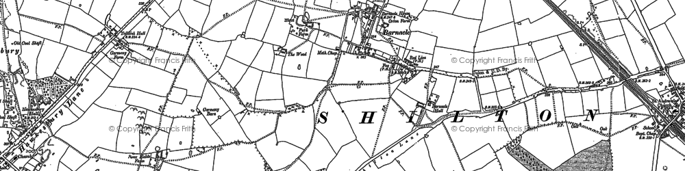 Old map of Barnacle in 1886