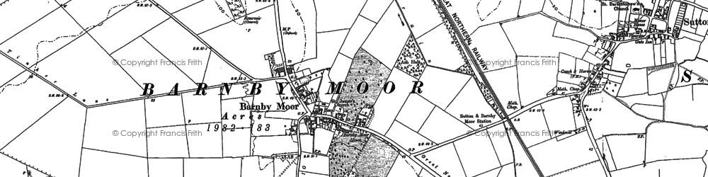 Old map of Barnby Moor in 1885