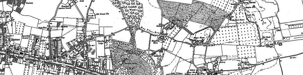 Old map of Barnehurst in 1895