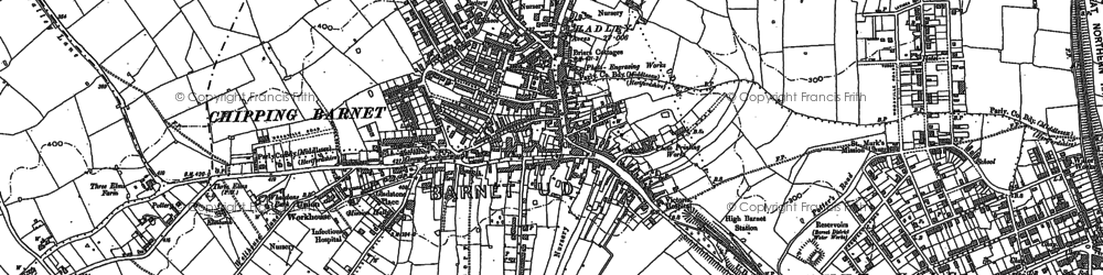 Old map of Totteridge in 1913