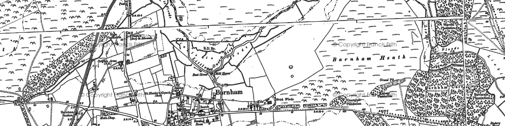 Old map of Aughton Spinney in 1882