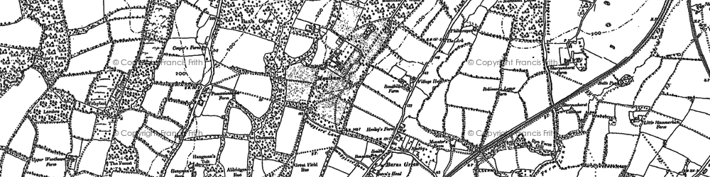 Old map of Barns Green in 1896