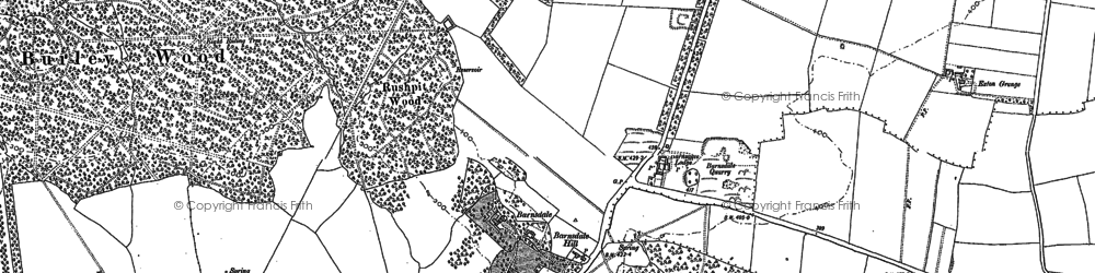 Old map of Barnsdale in 1884