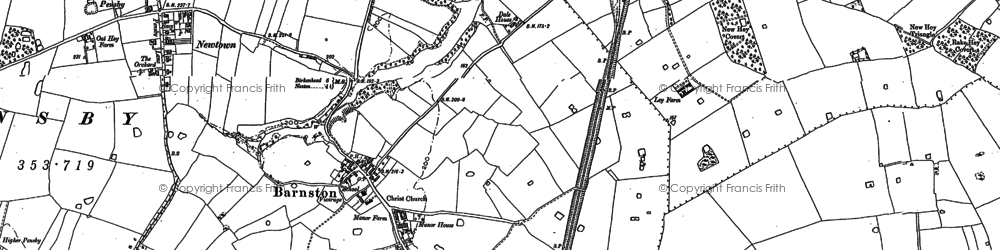 Old map of Barnston in 1898