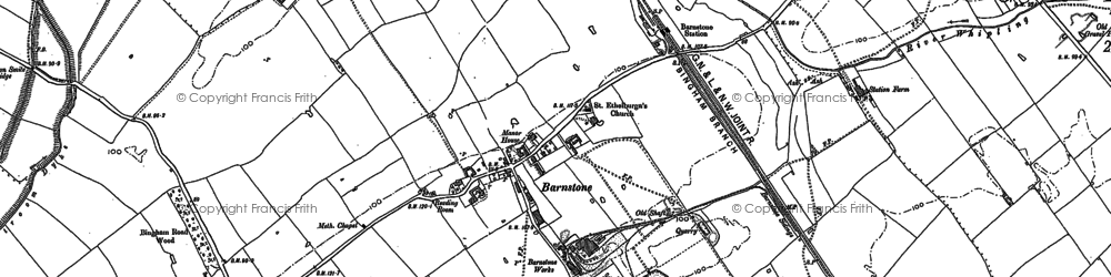 Old map of Langar Airfield in 1883